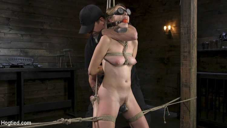 All Natural Cadence Lux Torment in Rope Bondage and Squirting Orgasms!