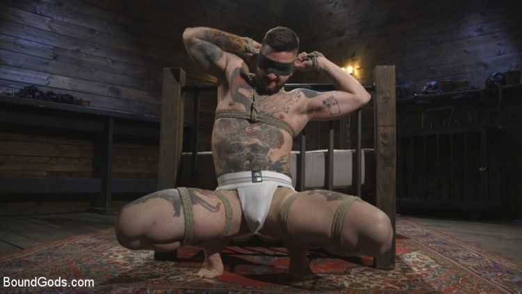 Ripped God Teddy Bryce Fucked and Beaten in Rope Bondage by Hot Stud!