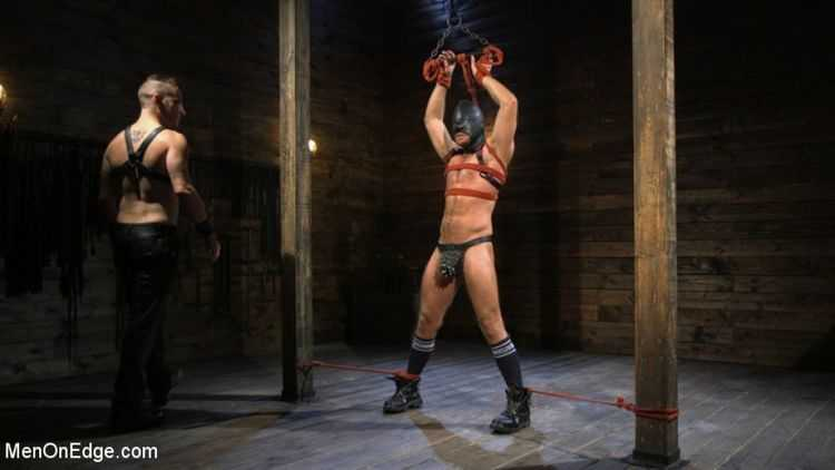 Submissive Stud Jack Andy Bound in Rope and Fucked in the Ass!!