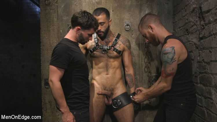 Leather Hunk Edged in Chains