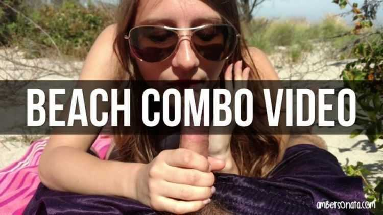 amber sonata short public blowjob beach combo vid